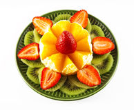 Fruit on a green saucer Royalty Free Stock Photo