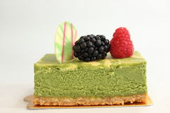 Fruit and greentea cheese  pastries  cakes and slices of cakes Royalty Free Stock Images