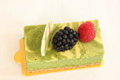 Fruit and greentea cheese  pastries  cakes and slices of cakes Royalty Free Stock Photo