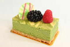 Fruit and greentea cheese  pastries  cakes and slices of cakes Stock Images