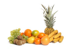 Fruit Group on White Background Stock Images