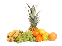 Fruit Group on White Background Royalty Free Stock Images