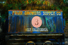 Fruit Growers Supply Company railroad car #3 Royalty Free Stock Images
