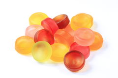 Fruit gum. On a white background royalty free stock photo
