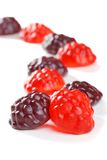 Fruit Gummy Candy In A Line Shallow Dof Royalty Free Stock Photos