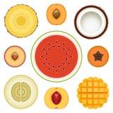 Fruit Halves Set Two royalty free stock image