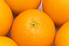 Fruit and health concept. Close of up oranges Royalty Free Stock Image