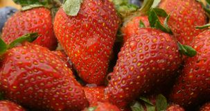 Fruit health fresh natural strawberry and berries stock video footage
