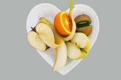 Fruit Heart Royalty Free Stock Photos