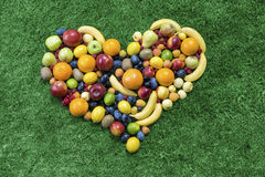 Fruit heart Royalty Free Stock Image