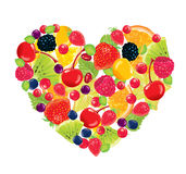 Fruit heart Stock Image