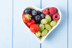 Fruit Heart Overhead Royalty Free Stock Images