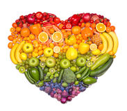 Fruit heart Stock Photos