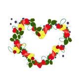 Fruit heart vector illustration