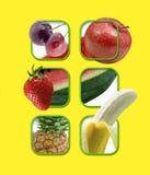Fruit in het grafische plaatsen Royalty-vrije Stock Afbeelding
