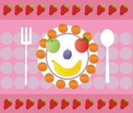 Fruit heureux Photos libres de droits