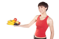 Fruit holding out Stock Image