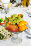 Fruit on the holiday table Stock Photo