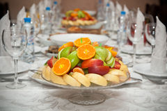 Fruit on the holiday table Royalty Free Stock Photography