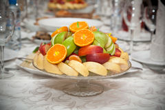 Fruit on the holiday table Royalty Free Stock Photos
