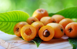 Fruit i de nèfle de Loquat Image stock