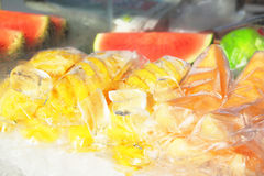 Fruit in ice Royalty Free Stock Images