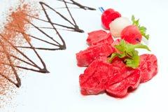 Fruit ice cream Stock Image