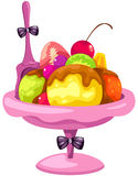 Fruit ice cream Stock Images