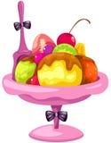 Fruit ice cream Stock Images