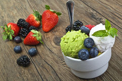Fruit ice cream Royalty Free Stock Images