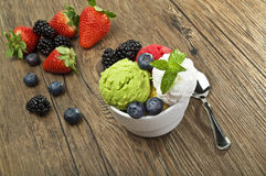 Fruit ice cream Royalty Free Stock Photo