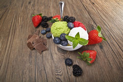 Fruit ice cream Royalty Free Stock Photography