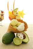 Fruit Ice Cream Cone Stock Image