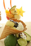 Fruit Ice Cream Cone Royalty Free Stock Image