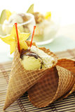 Fruit Ice Cream Cone Stock Images