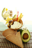 Fruit Ice Cream Cone Royalty Free Stock Photos