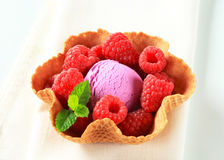 Fruit ice cream dessert Royalty Free Stock Photos
