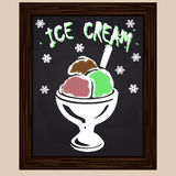 Fruit ice cream in the glass Stock Photo
