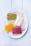 Fruit Ice cream popsicles Royalty Free Stock Photography