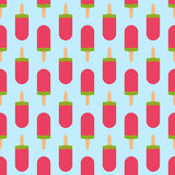 Fruit ice cream seamless pattern background vector illustration icon  dessert sweet cold snack tasty frozen Stock Photography