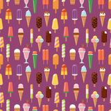 Fruit ice cream seamless pattern background vector illustration Stock Images
