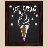 Fruit ice cream in waffle Stock Photo