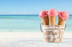 Fruit ice creams Stock Photo