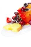 Fruit icecream and fruits Stock Photography
