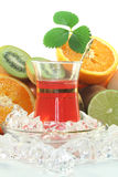 Fruit iced tea Royalty Free Stock Images