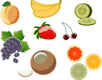 Fruit_icon_2. A set of vector images fruit № 1 Royalty Free Stock Photos