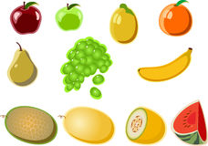 Fruit_icon. A set of vector images fruit № 2 Royalty Free Stock Image