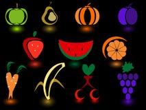Fruit icon. Vector illustration -11 set of logos Fruit and Vegetables stock illustration