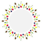 Fruit icon, circle, vector. Copy space Royalty Free Stock Photography