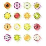 Fruit icon collection Royalty Free Stock Photos